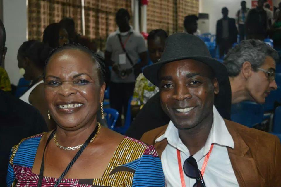 Mme Irié Lou et Jean Delmas