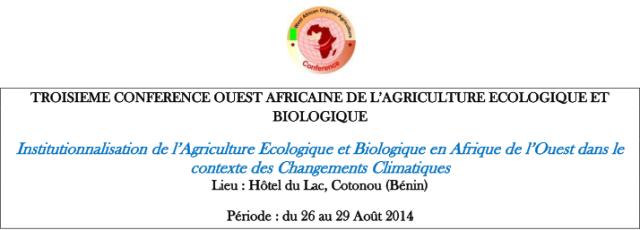 Conférence Ouest Africaine de l'Agriculture Bio