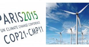 COP21Les énergies renouvelables telles que les éoliennes pour sauver la terre du réchauffement climatique